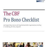 A Pro Bono Checklist for Success